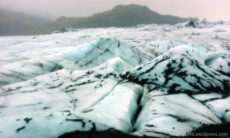- a picturesque view of the solheimajokull glacier snout -