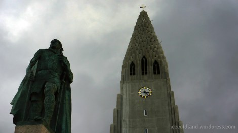 - a silent guardian and a church protect the city of reykjavik -