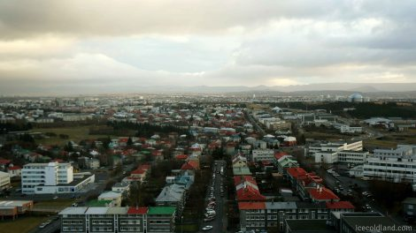 - the magnificient view of reykjavik from the top of hallgrimskja church tower -