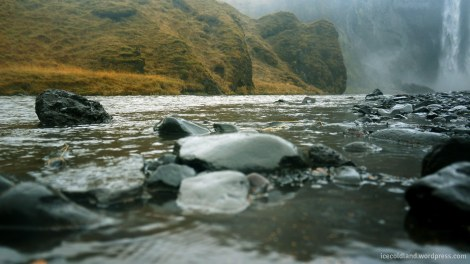 - a stream fed by the skogafoss waterfall -
