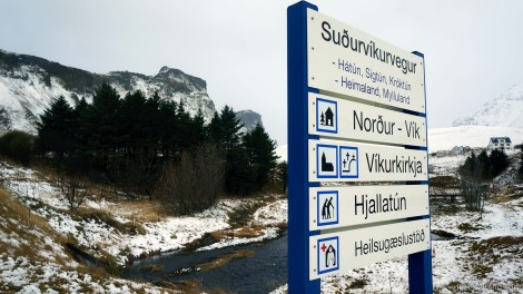 - signs are not very clear in vík -