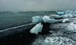 - beached and floating icebergs make this seem like some location in outer space -
