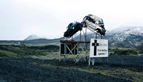 - road safety sculpture on that you will see on route 1 -