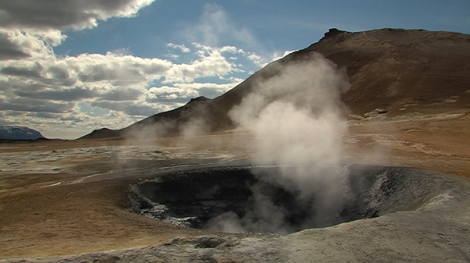- a geyser featured in the film -